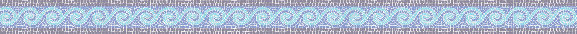Wave Tile Mosaic Border