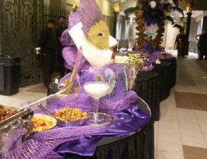 Mardi Gras Catering Buffet Table